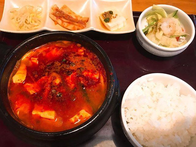 純豆腐チゲ定食割と体に良い食事な気がする。ご飯をおかわりしなければ、、、笑#純豆腐チゲ #豆腐 #pal整体院 #ぱる整体院 #整体院pal #pal #高田馬場 #整体院 #肩こり #腰痛 #膝痛 #痛み取り #瀬崎療法 #韓国料理
